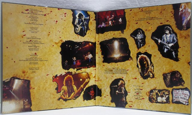 Gatefold cover inside, Black Sabbath - Live Evil