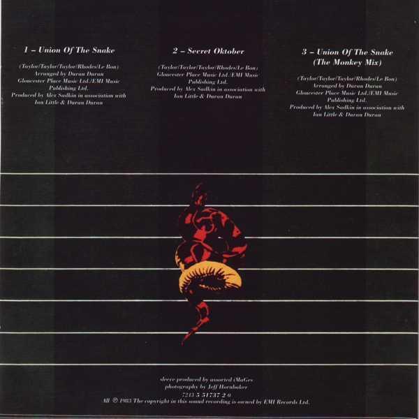 CD9 Sleeve [Back], Duran Duran - The Singles 81-85 Boxset