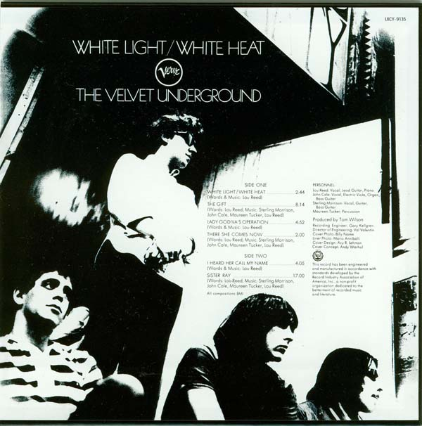 Back cover, Velvet Underground (The) - White Light/White Heat