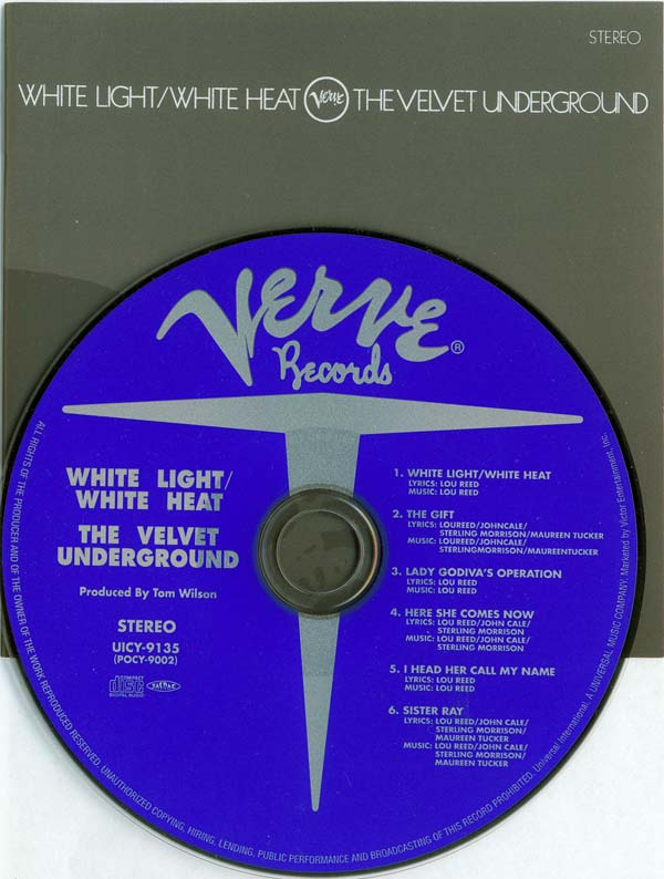 CD and booklet, Velvet Underground (The) - White Light/White Heat