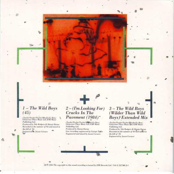 CD12 Sleeve [Back], Duran Duran - The Singles 81-85 Boxset