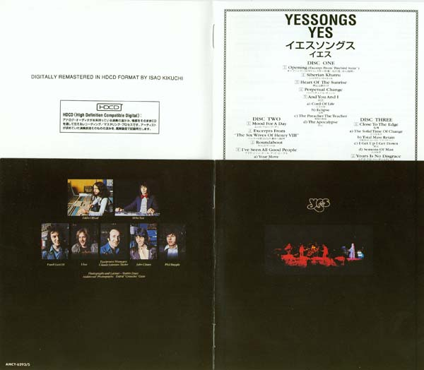 Inserts, Yes - Yessongs