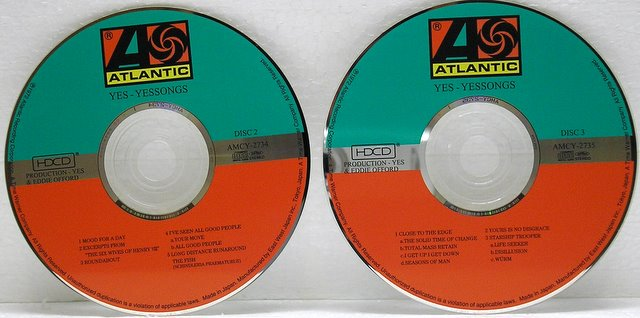 CD 2 & CD 3, Yes - Yessongs