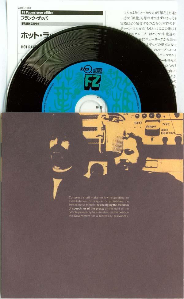CD, inner sleeve and remarkably small insert, Zappa, Frank - Hot Rats