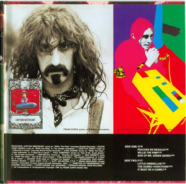 Inside gatefold right (used as the back cover for Australian and New Zealand releases), Zappa, Frank - Hot Rats
